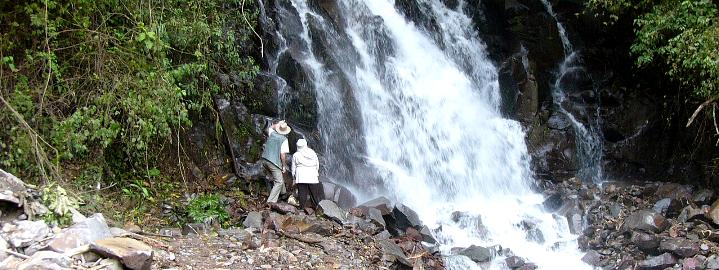 Hiking tours. Boquete, Panama, Bajo mono the water fall of San Ramon